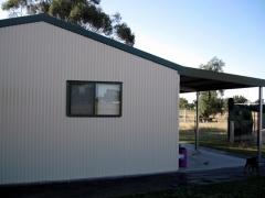 garage with window