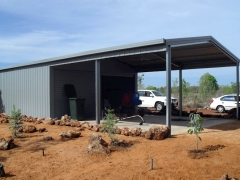 garage with roof
