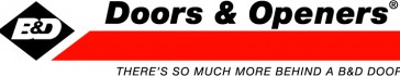 LOGO - B&D Doors & Openers With Tag Line